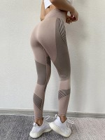 Svelte Style Pink High Rise Sport Leggings Ankle Length Fashion