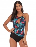 Perfectly Queen Size Printed One Piece Beachwear Keyhole Women's Essentials