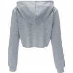 Trendy Plain Drawstring Sweatshirts Sport Hooded