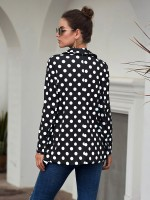 Best Price Black Polka Dot Pattern Lapel Suit Jacket Fashion Design
