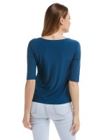Shop Blue Large Size Shirt Short Sleeves Pleated Fabulous Fit