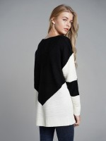 Classy Black Full Sleeves Round Neck Knit Sweater Best Materials