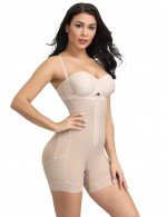 Nude Plus Size Mid-Thigh Butt Lift Body Shaper Smooth Abdomen