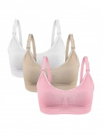 Girls Open Front Nursing Bras 3 Pack Fashion Online For Female