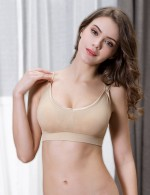 Ethereal Nude Clip Down Maternity Bras 3 Pcs Skinny Females