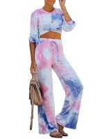 Appropriate Crew Neck Top Full Length Pants Casual Wear