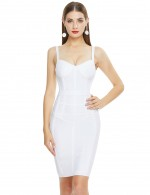 White Woman Fashion Summer Sexy Bandage Dress For Female