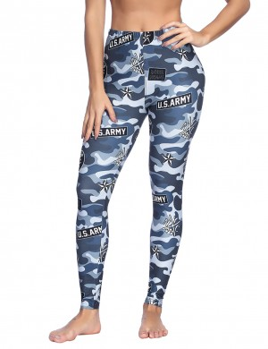 Casual Favorite Printing Brushed Leggings Mid Rise Fashion Trend Female Fashion