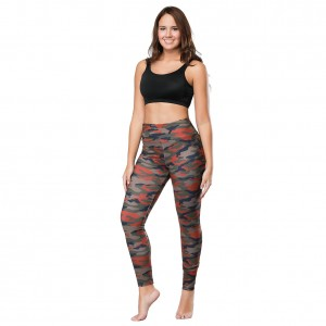 Uniquely Camo Print Pant High Waist Mini Pocket