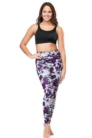 Stretchable Camo Brushed Hidden Pocket Printed Legging