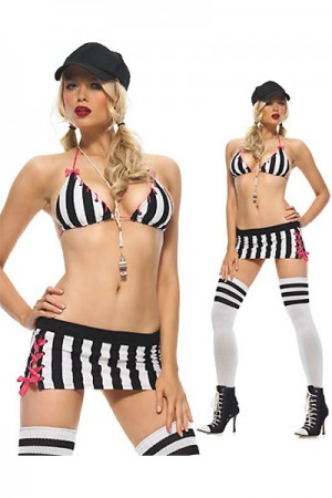Vertical Cosplay Stripped Sport Costume