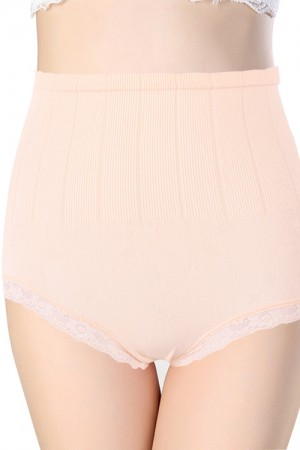 High Wasit Panties Butt Lifter Back Coverage Lace Trimed