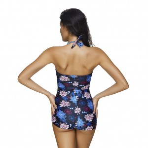 Comfortable Gorgeous Floral 1 Piece Plus Size Swimsuit Twist Front