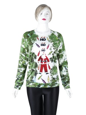 Inspired Santa Claus Crew Neck Sweatshirt Soft-Touch