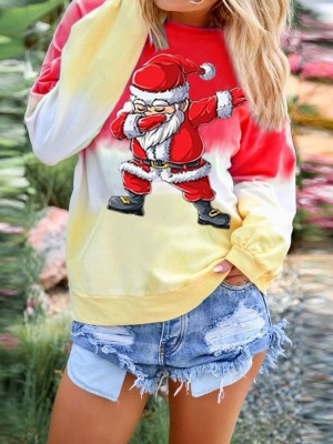 Detachable Xmas Sweatshirt Crew Neck Long Sleeve Fashion Shopping