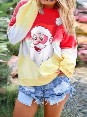 Glorious Red Xmas Colorful Full Sleeves Sweatshirt Supper Fashion