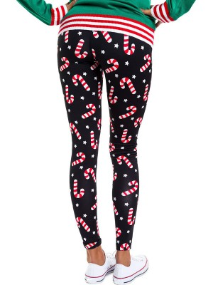 Sunshine High Waist Christmas Print Leggings Trend For Women