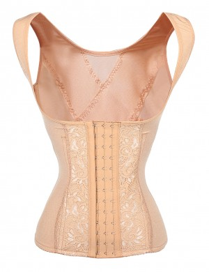 Sexy Durable Lace 6 Steel Bones Plus Waist Cincher Vest Ultra Light