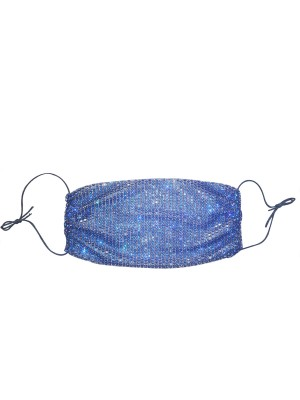 Blue Reusable Diamond Earloop Mouth Mask Best Design
