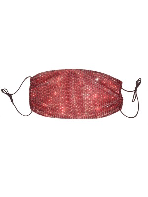 Captivating Red Outdoor Lattice Flash Dust Mouth Mask
