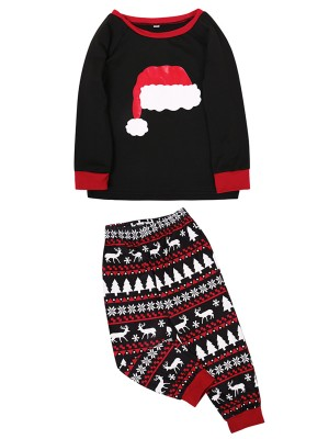Christmas Set Full Sleeve High Waist For Kids Weekend Time