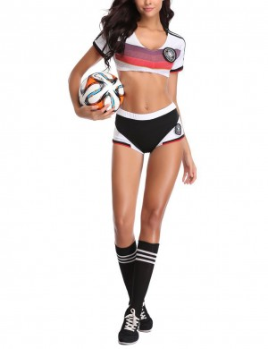 Affordable Black World Cup Soccer Baby 3 Pieces Costume Set Holiday Sale