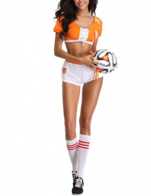 Orange Holland Football Baby Costume Set Front Crisscross Straps Online
