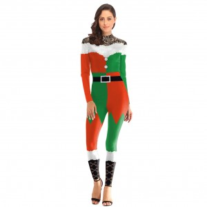 Socialite Ankle Length Christmas Costume Crew Neck Zip Cool Fashion