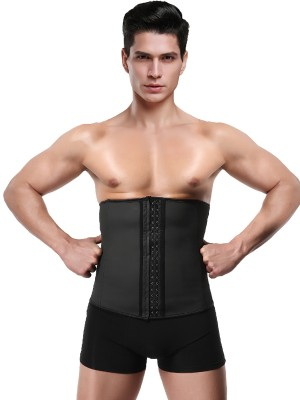 Gorgeous Black Men Neoprene Waist Trainer Large Size Form Fitting