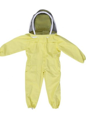 Simple Yellow Child Beekeeping Jumpsuit With Pockets