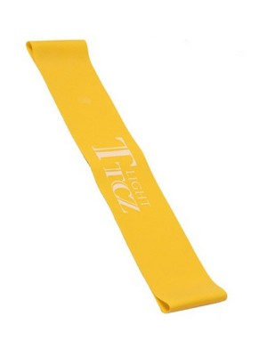 Plain Yellow Elastic Band Letter Print High Stretch Moderate Control
