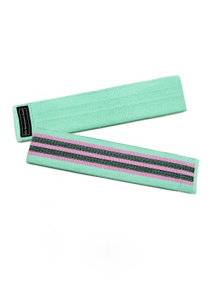 Perforated Turquoise Hip Resistance Band Patchwork Circle Slimmer