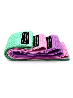 Sensational 3 Pieces Hip Resistance Band Colorblock