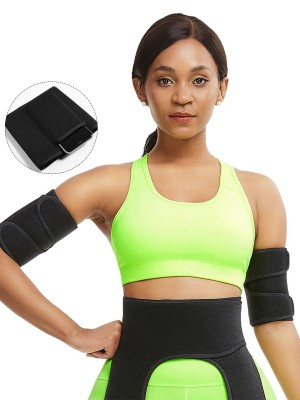Black 2 Pieces Repel Sweat Arm Shaper Neoprene Tailored Shape