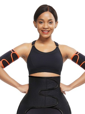 Orange 2Pcs Neoprene Arm Trimmers With Pockets Posture Corrector