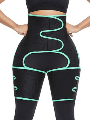 Lgiht Green Neoprene Thigh And Waist Shapewear Butt Lifting