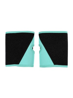 Light Green Neoprene Arm Shaper Sleeves Colorblock Cellulite Reducing