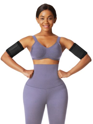 Black Neoprene Slimming Elastic Bands Arm Shaper Higher Power