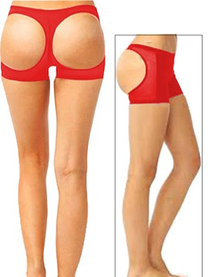 Exquisitely Red Solid Color Short Panty Shapewear Moderate Control