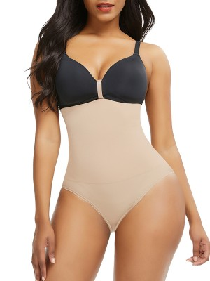 Silhouette Skin Color Seamless Panty Solid Color Buckle Body Slimmer