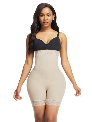 Shimmer Skin Color Butt Lifter High Waist Tummy Control Body Slimmer