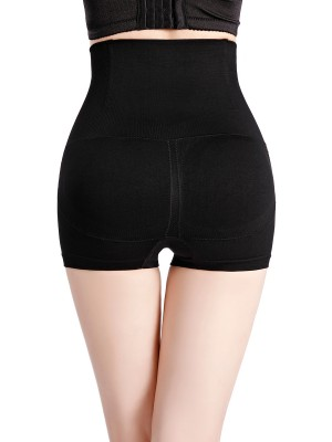 Comfortable Black Seamless High Waist Butt Lifter Panties Underwear