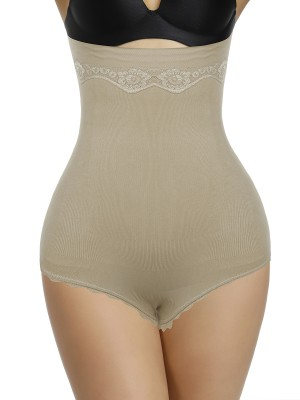 Ideal Skin Color Big Size Shapewear Pants High Waist
