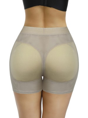 Perfect Apricot Plain Padded Butt Enhancer Shorts High Quality