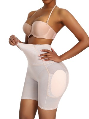 Graceful Skin Color Big Size Butt Lifter Mesh High Rise