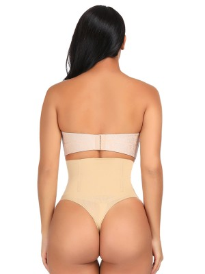 Nude 4 Steel Bones High Waist Shapewear Thong Tummy Control