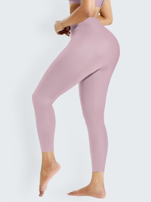 Light Pink 2-In-1 Shapewear Leggings High Waist Slimming Tummy