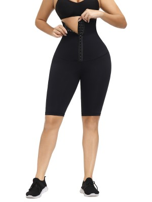 Black Waist Trainer Knee-Length Butt Lifter Slimming Waist