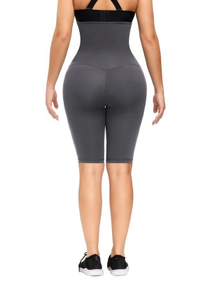 Gray High Rise Waist Trainer Shapewear Leggings Weight Loss