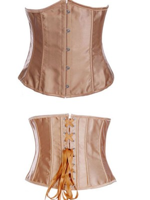 Fitness Gold Plus Size Steel Boned Corset Lace-Up High Quality